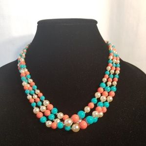 FASHION THREE COLOR NECKLACE